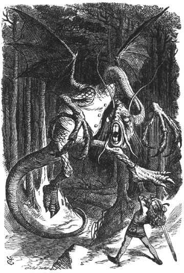 The Jabberwock as illustrated by John Tenniel