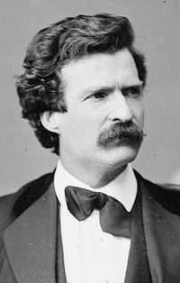 Mark Twain, American author and humorist