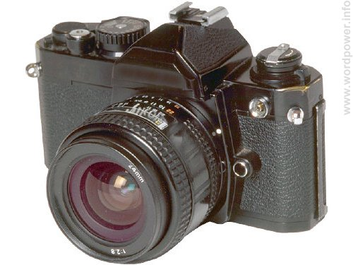 A photo quality image of a camera