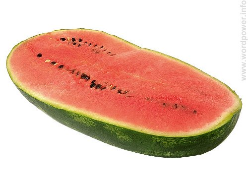 A photo quality image of a watermelon.