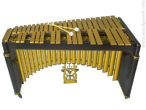 A photo quality image of a xylophone.